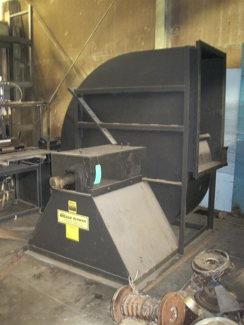 Chicago Blower Size 4014 Plastic Machinery Used